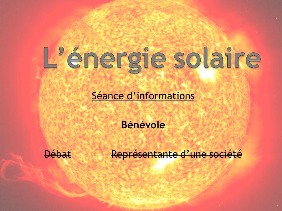Séance d'informations Bénévole Débat Représentante d'une société