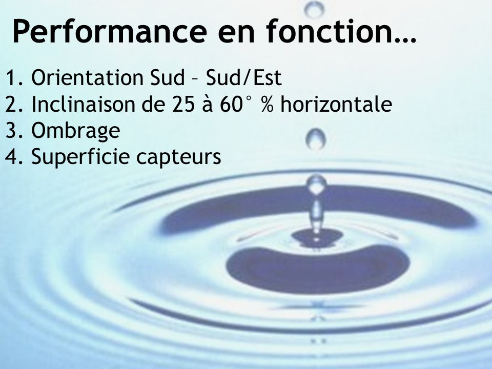 Performance en fonction…