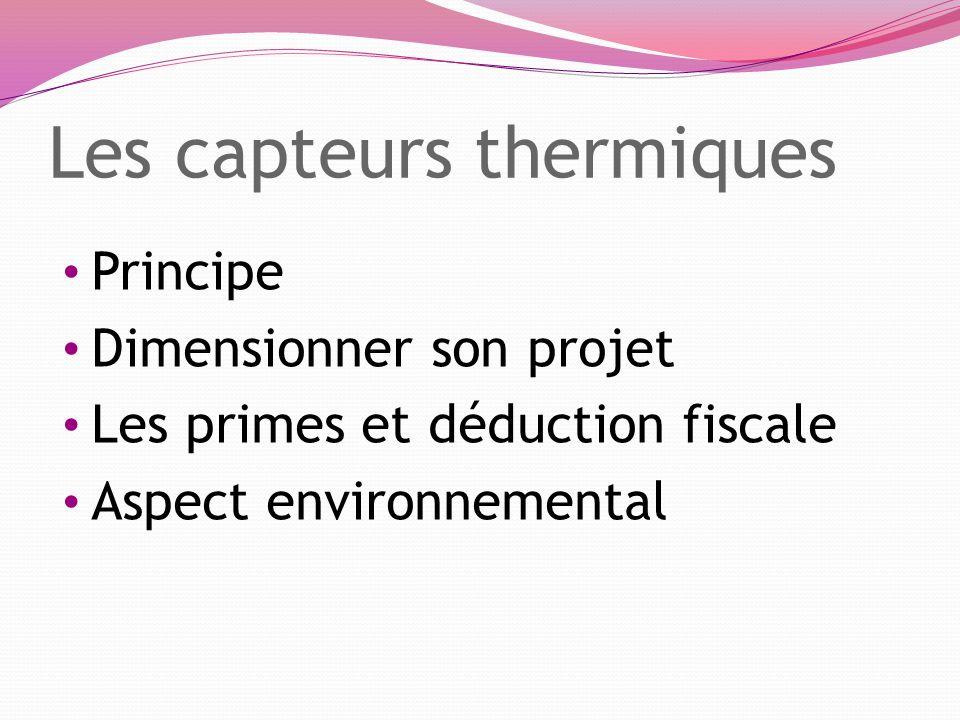 Les capteurs thermiques