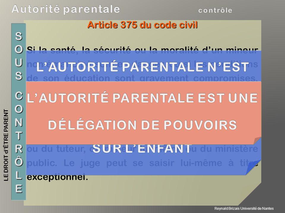 L'AUTORITÉ PARENTALE N'EST PAS