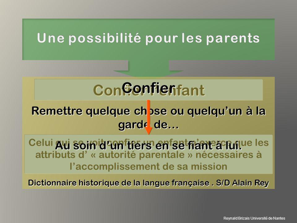 Une possibilité pour les parents