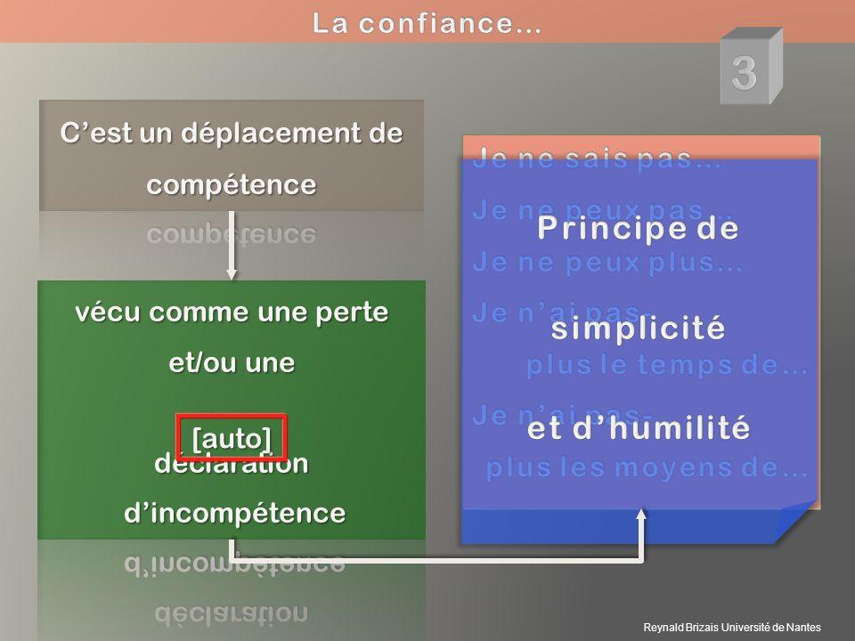 3 Principe de simplicité et d'humilité La confiance…