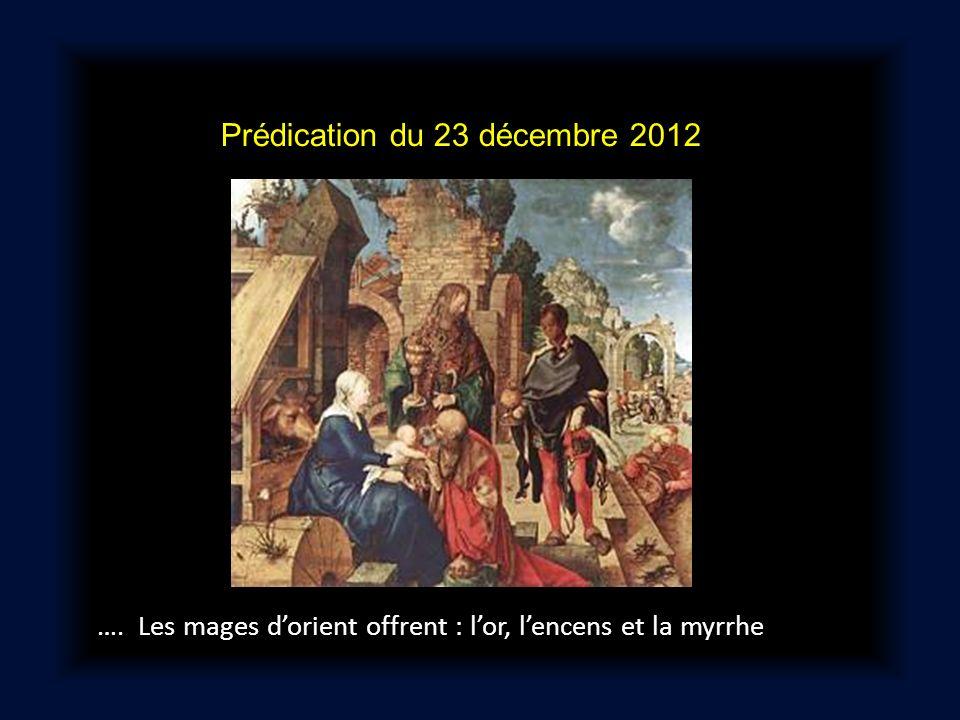 Prédication du 23 décembre 2012 …