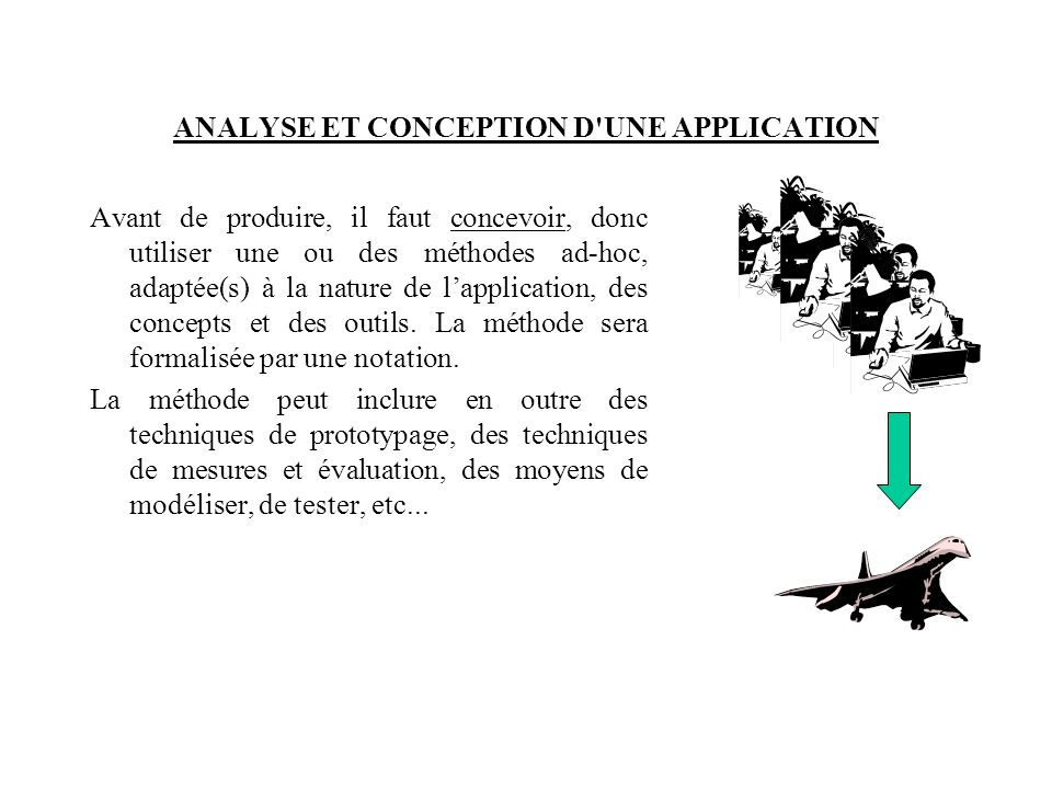 ANALYSE ET CONCEPTION D UNE APPLICATION