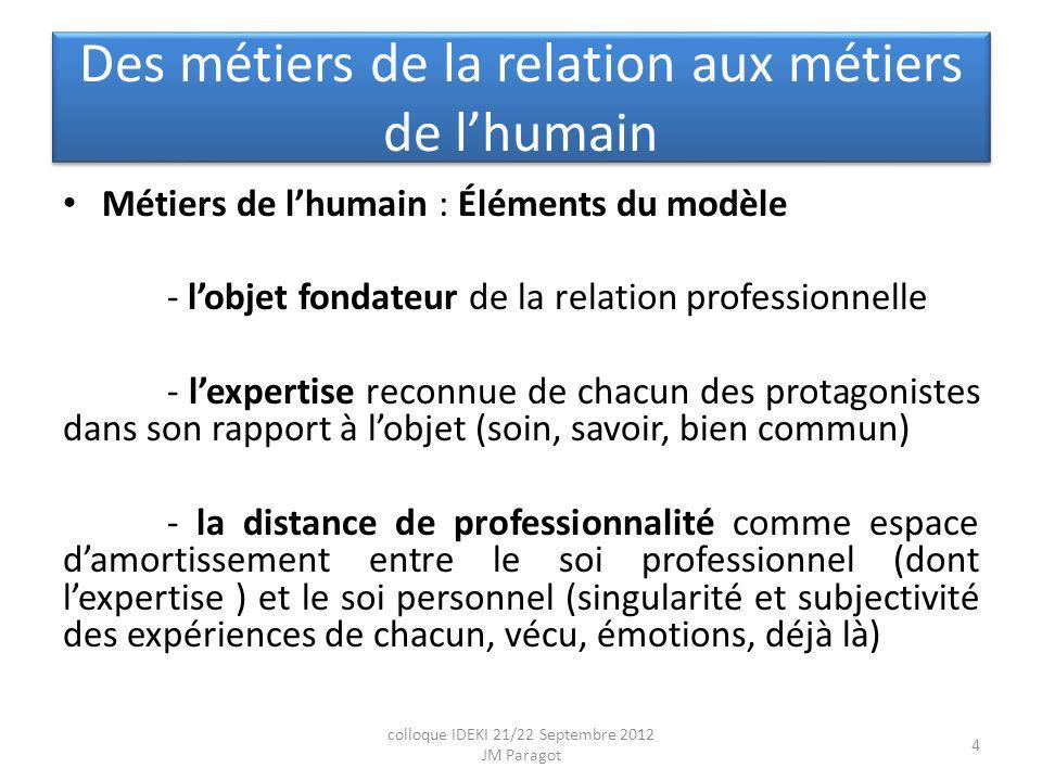 Des métiers de la relation aux métiers de l'humain