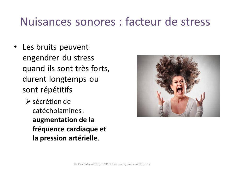 Nuisances sonores : facteur de stress