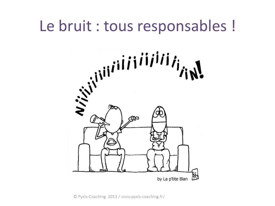 Le bruit : tous responsables !