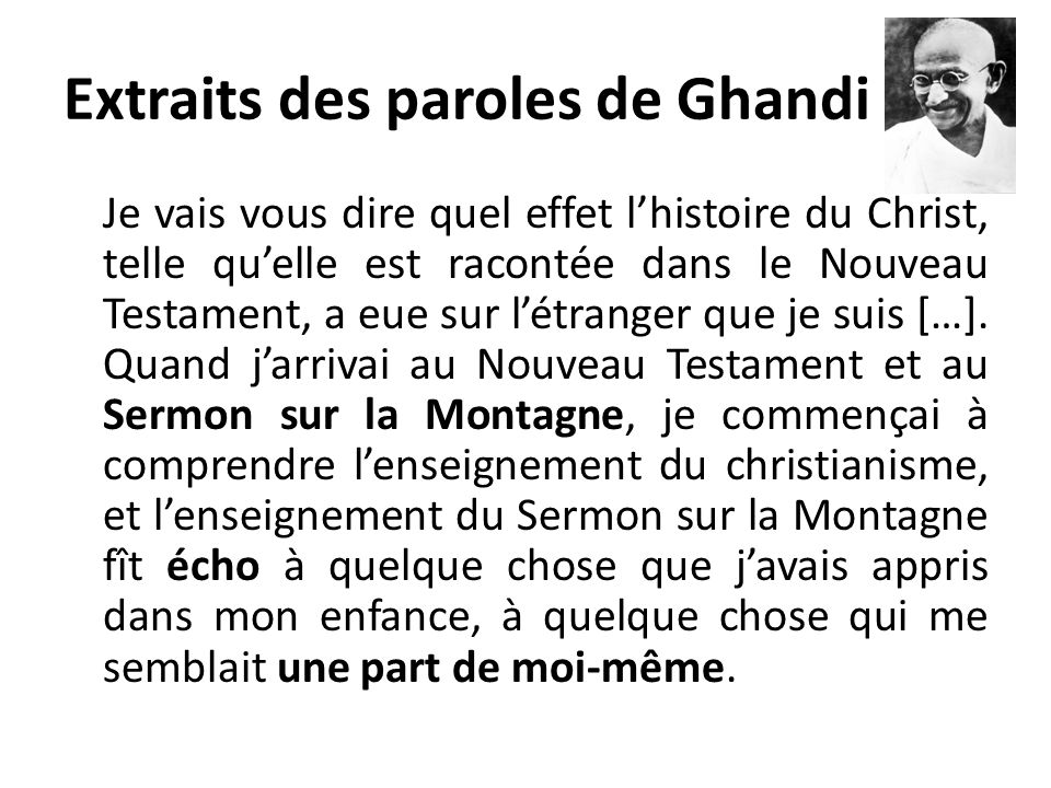 Extraits des paroles de Ghandi