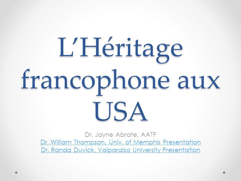 L'Héritage francophone aux USA