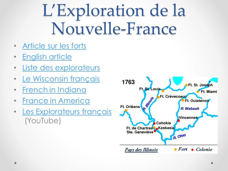 L'Exploration de la Nouvelle-France