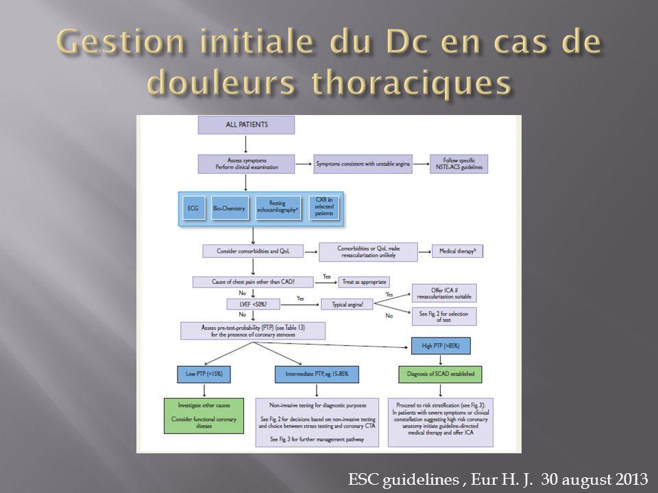 Gestion initiale du Dc en cas de douleurs thoraciques