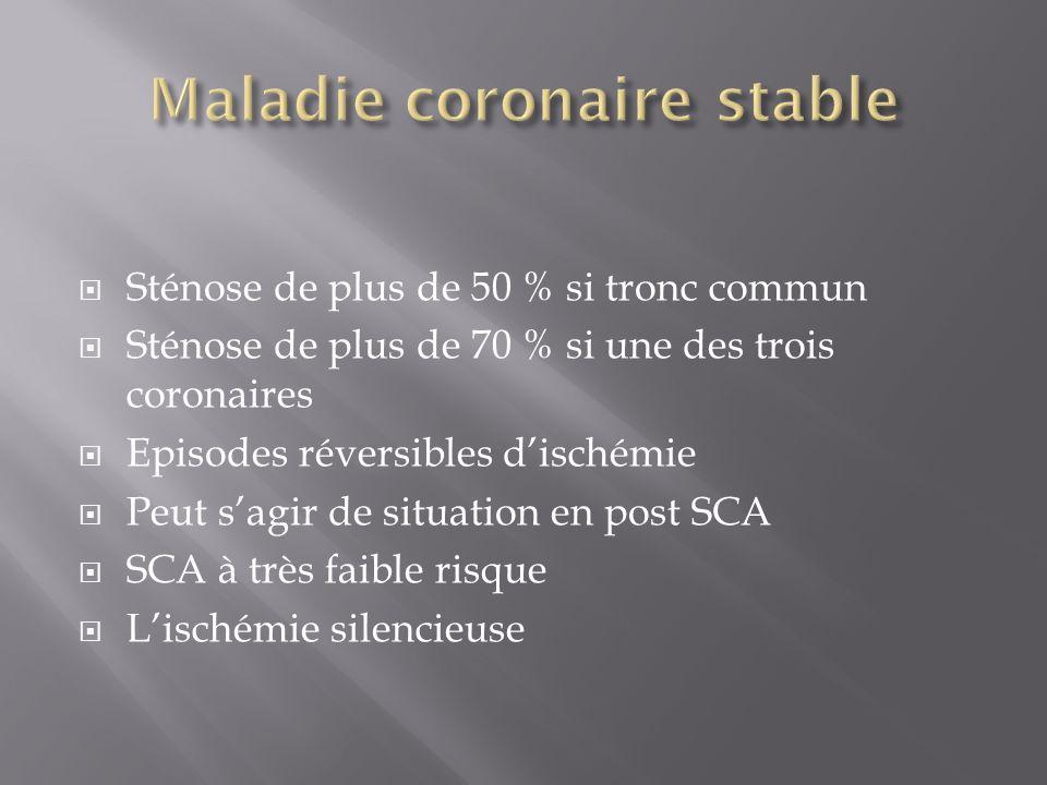 Maladie coronaire stable