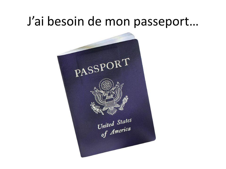 J'ai besoin de mon passeport…