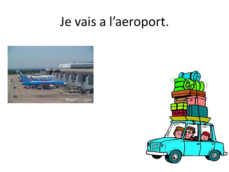 Je vais a l'aeroport.
