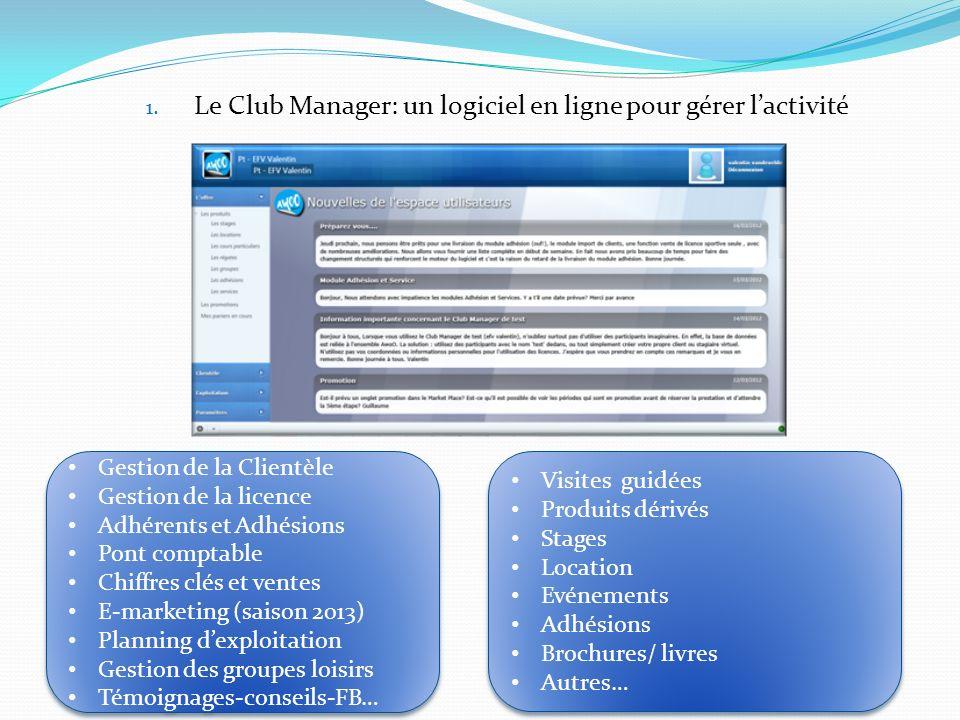 Le Club Manager: un logiciel en ligne pour gérer l'activité
