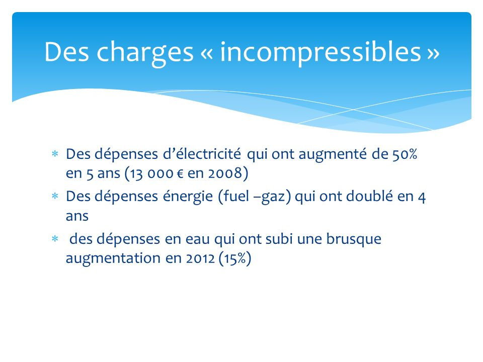 Des charges « incompressibles »