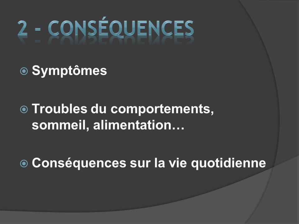 2 - CONSÉQUENCES Symptômes