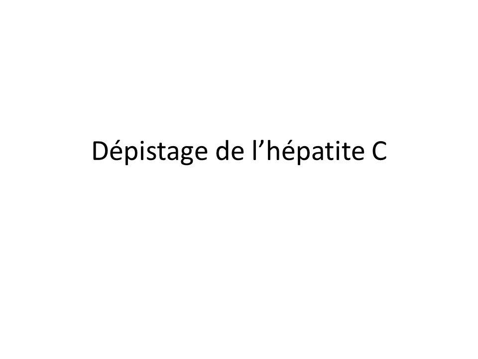 Dépistage de l'hépatite C