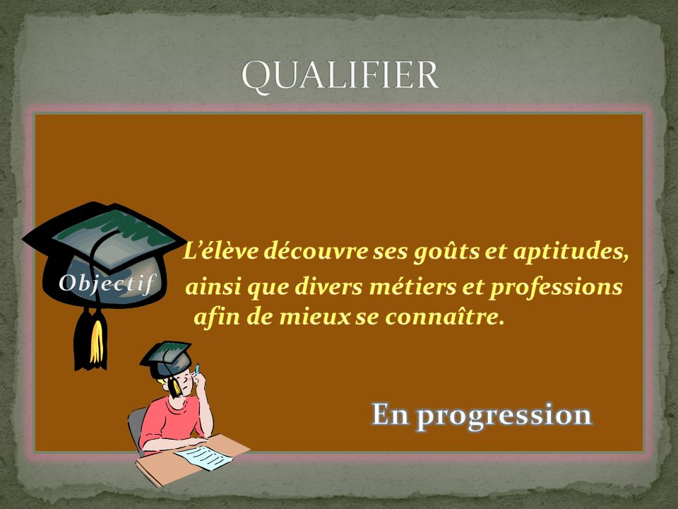 QUALIFIER En progression