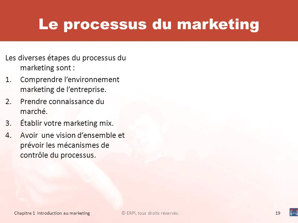Le processus du marketing