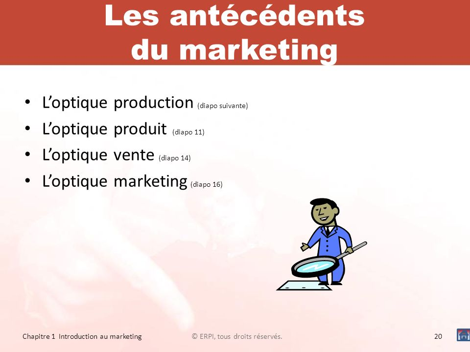 Les antécédents du marketing