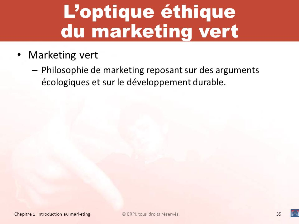 L'optique éthique du marketing vert