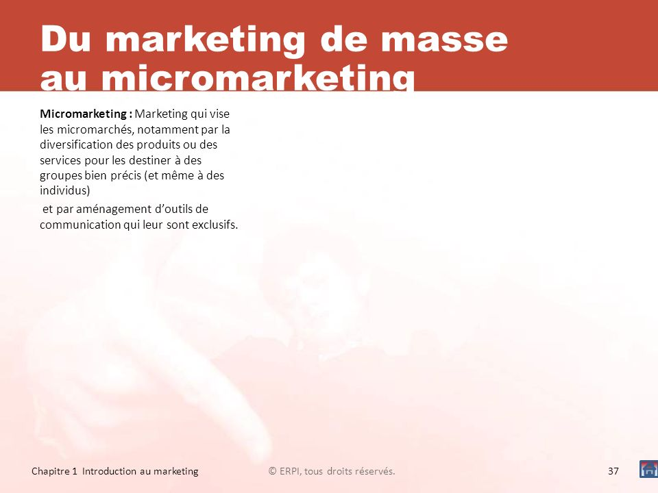 Du marketing de masse au micromarketing