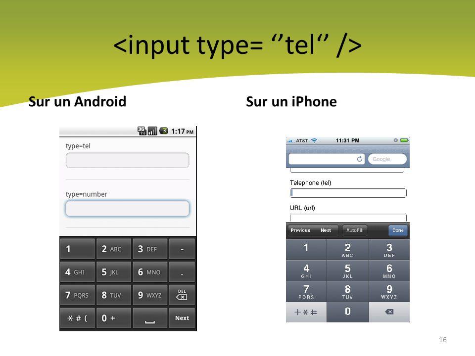 <input type= ''tel'' />