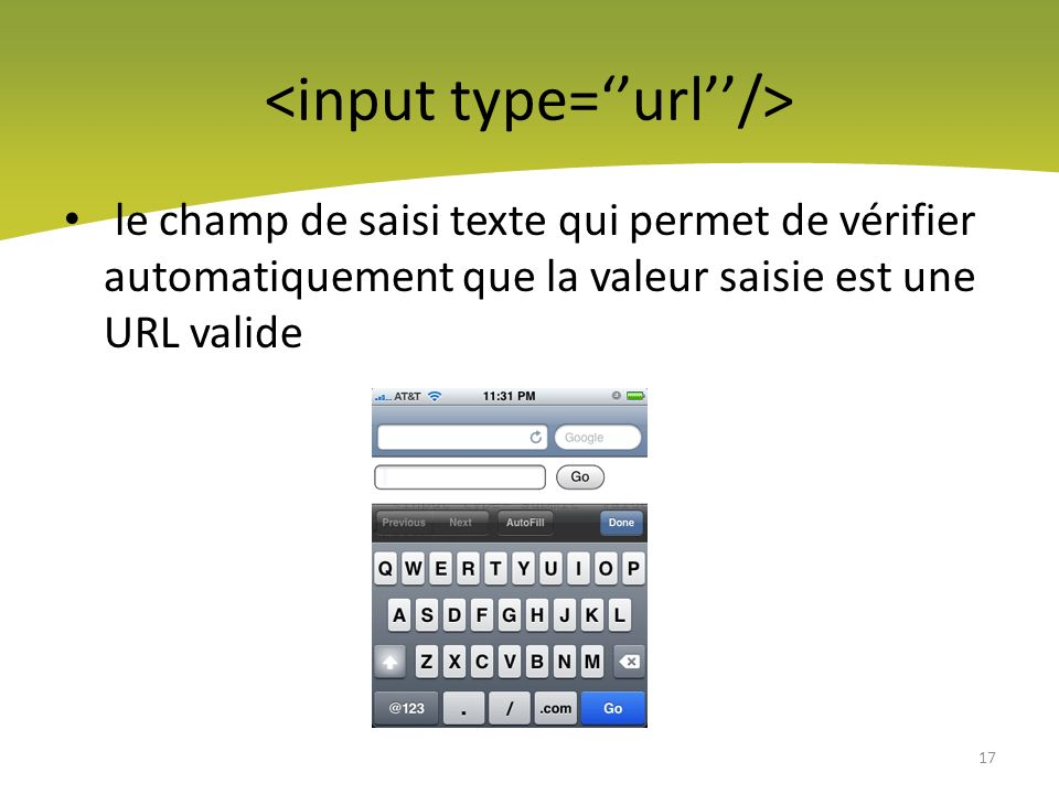 <input type=''url''/>