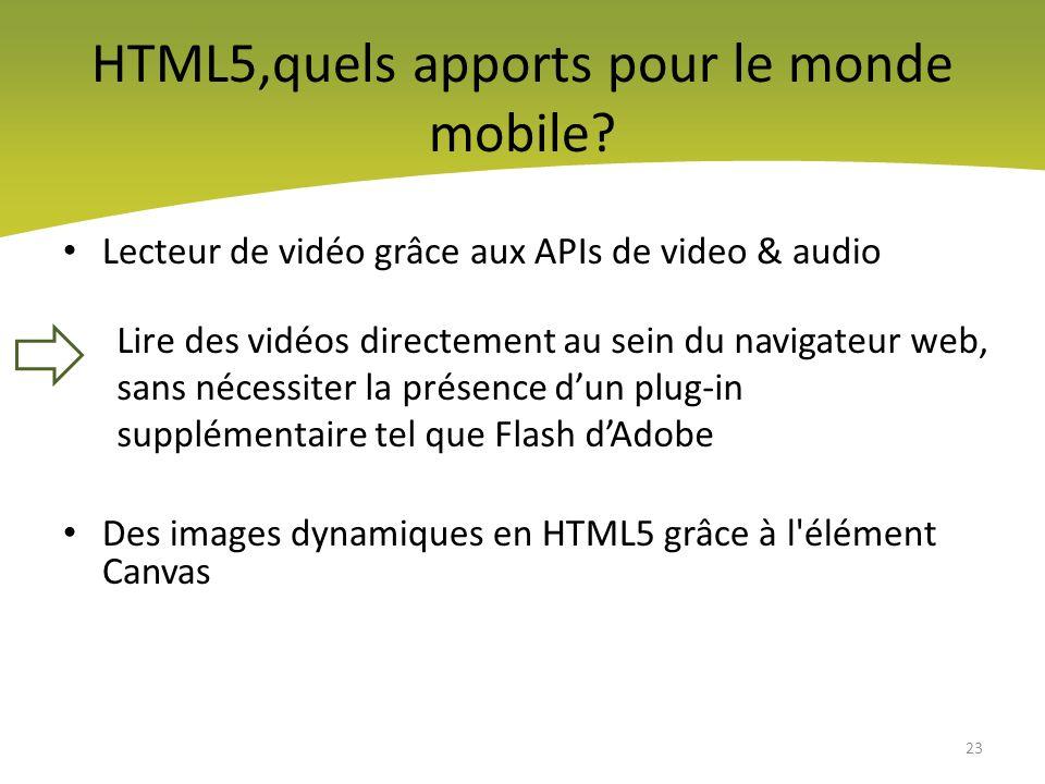HTML5,quels apports pour le monde mobile