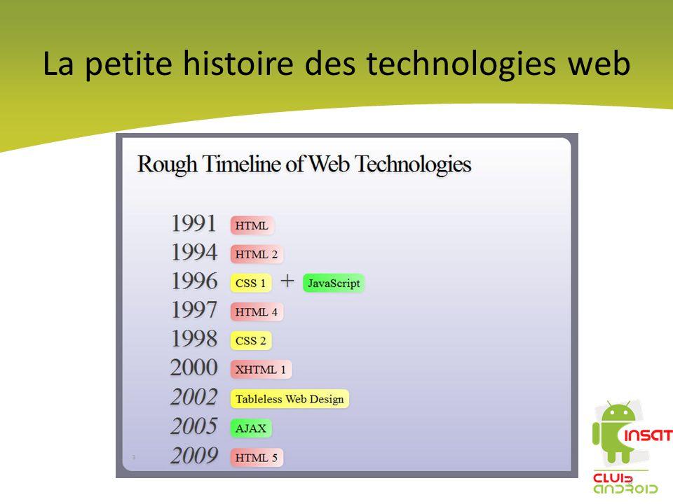 La petite histoire des technologies web