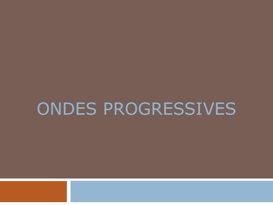 ONDES PROGRESSIVES
