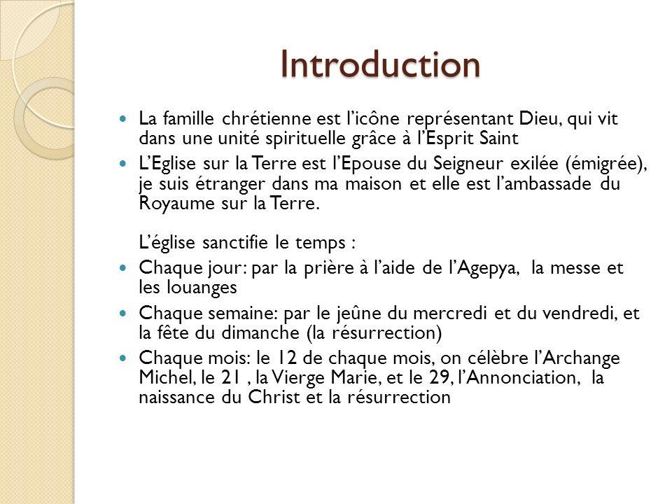 Introduction La famille chrétienne est l'icône représentant Dieu, qui vit dans une unité spirituelle grâce à l'Esprit Saint.