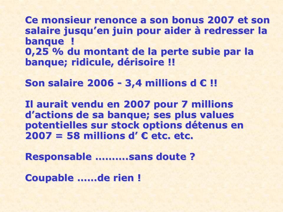 Son salaire 2006 - 3,4 millions d € !!