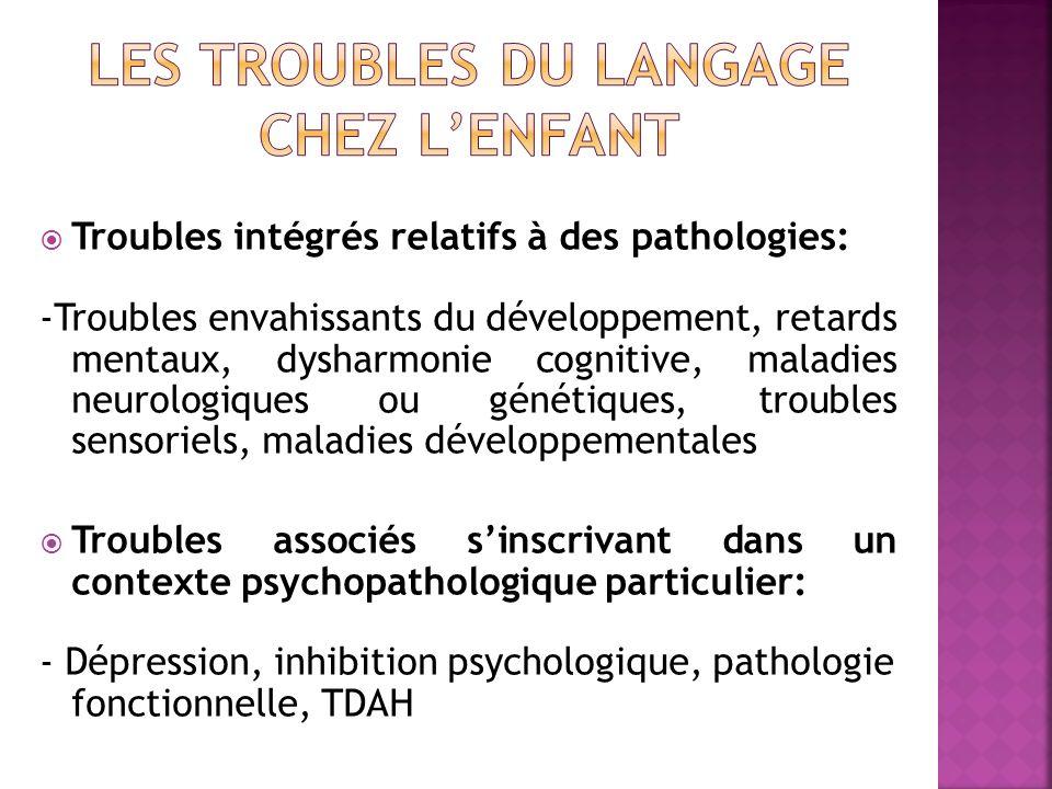 Les troubles du langage chez l'enfant