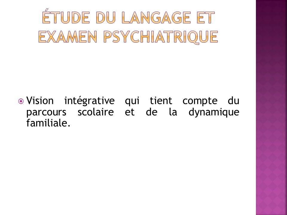 Étude du langage et examen psychiatrique