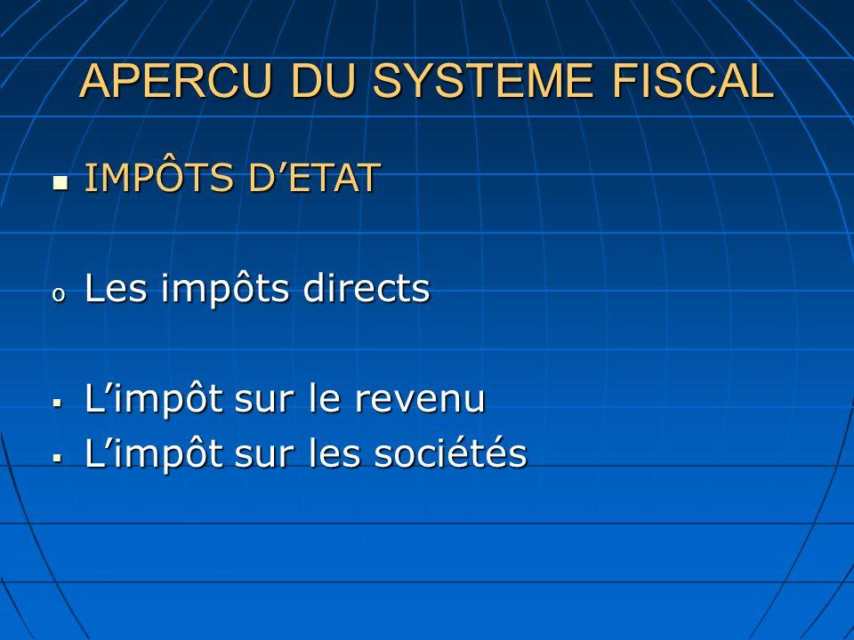 APERCU DU SYSTEME FISCAL