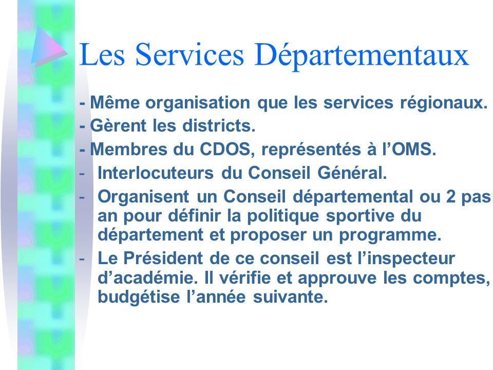 Les Services Départementaux