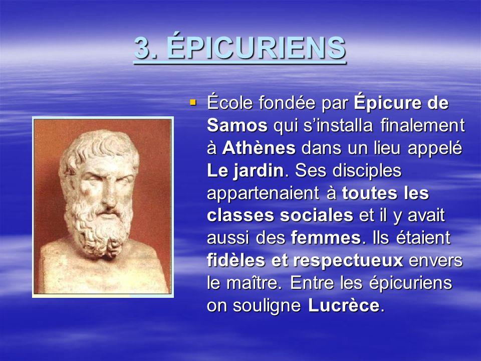 3. ÉPICURIENS