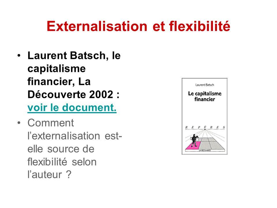 Externalisation et flexibilité