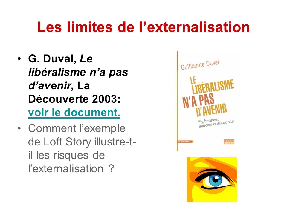 Les limites de l'externalisation