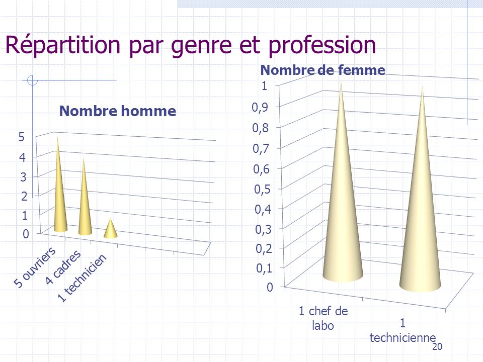 Répartition par genre et profession