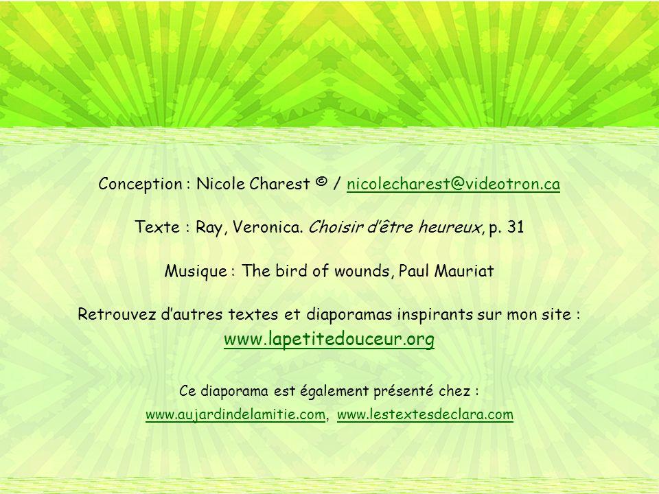 Conception : Nicole Charest © / nicolecharest@videotron.ca