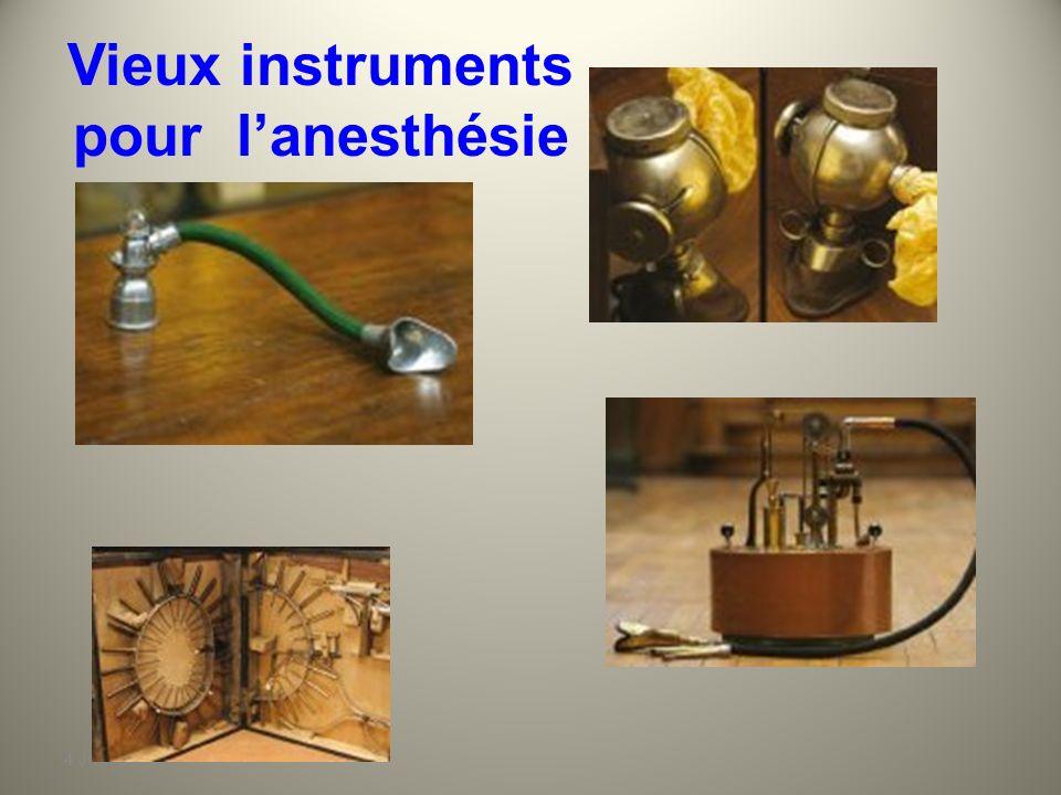 Vieux instruments pour l'anesthésie