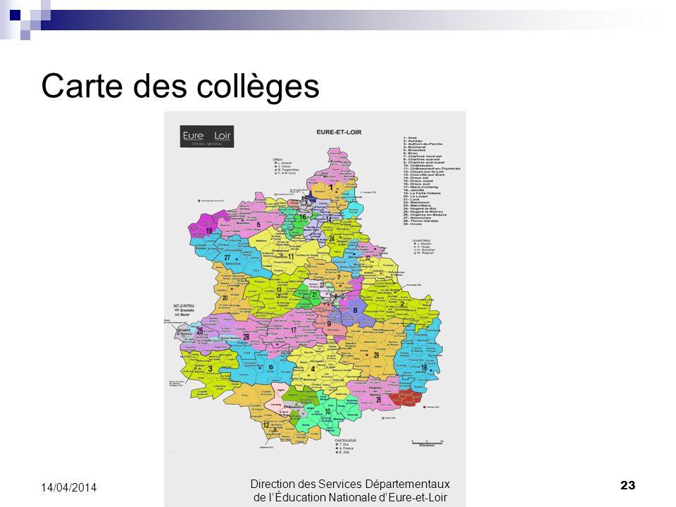 Carte des collèges 30/03/2017.