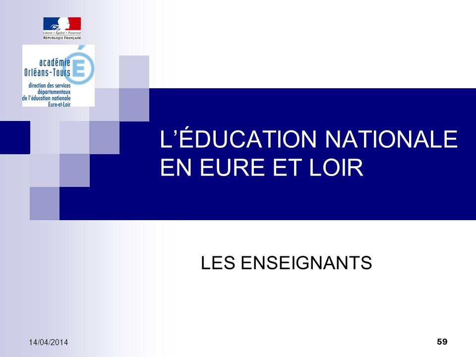 L'ÉDUCATION NATIONALE EN EURE ET LOIR