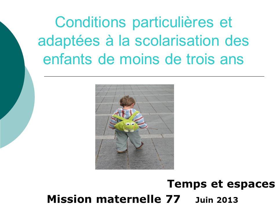 Temps et espaces Mission maternelle 77 Juin 2013