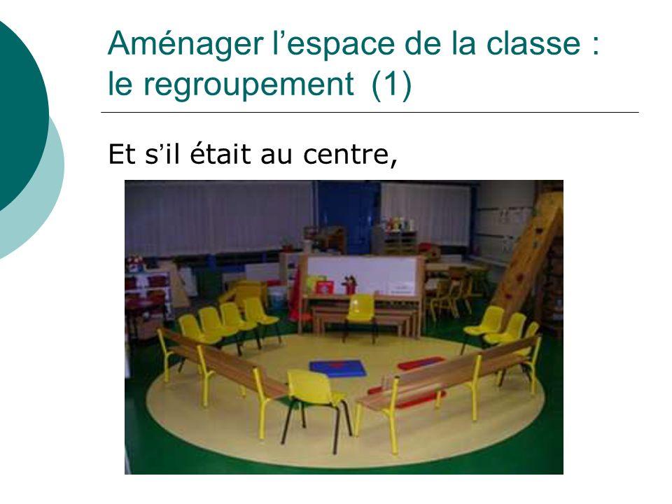 Aménager l'espace de la classe : le regroupement (1)