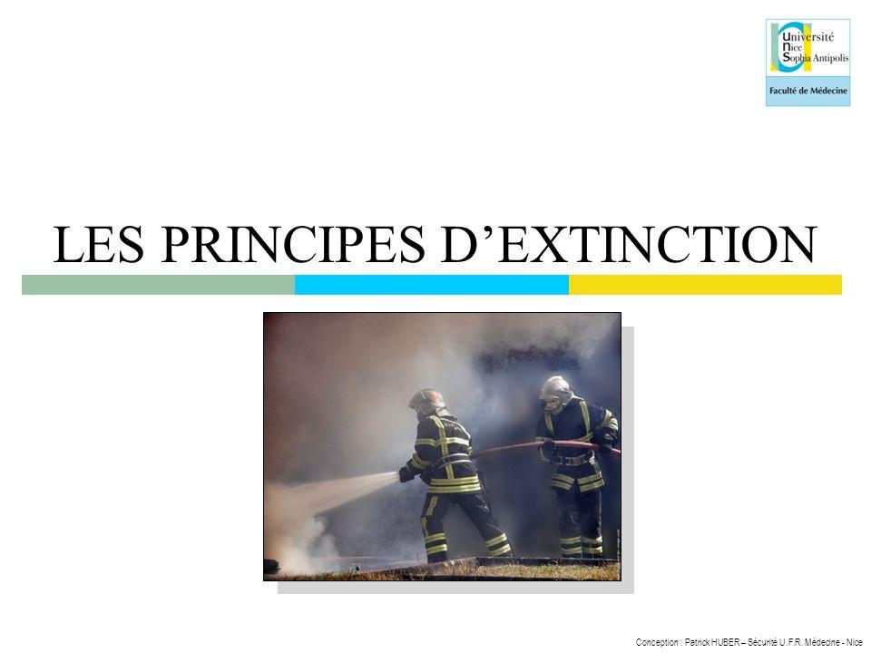 LES PRINCIPES D'EXTINCTION