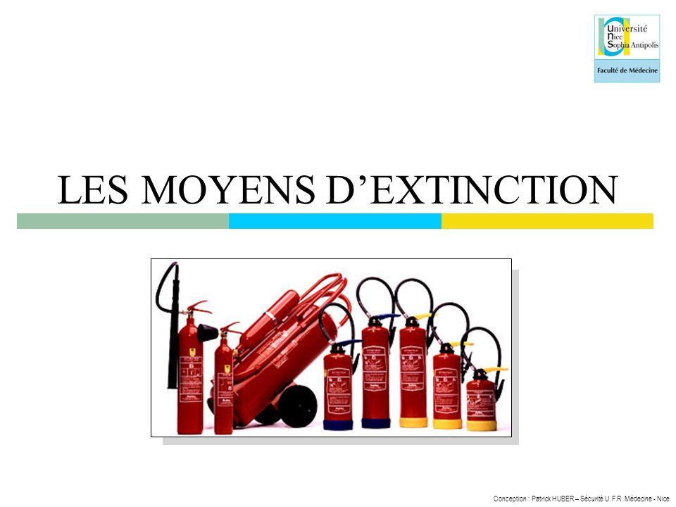 LES MOYENS D'EXTINCTION